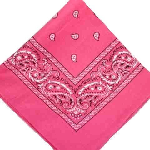 hot-pink-cotton-bandana-scarf-square-black-white-paisley