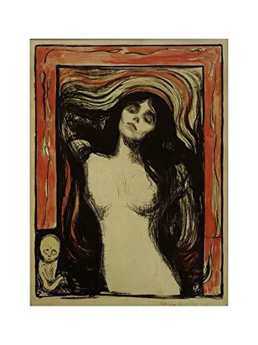 Edvard Munch - Madonna 1895/1902 Print 60x80cm -