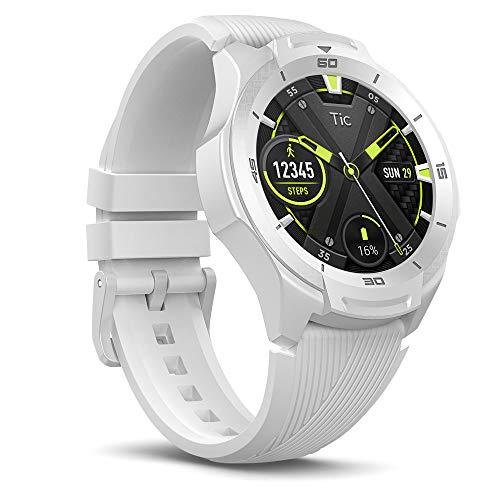 """Ticwatch S2 Smartwatch Display Touch 1.39"""" AMOLED Wear OS by Google Fitness Tracket con GPS, Rilevazione Battito Cardiaco e predisposto per Il Nuoto, Durevole, Compatibile con iPhone e Android Bianco"""