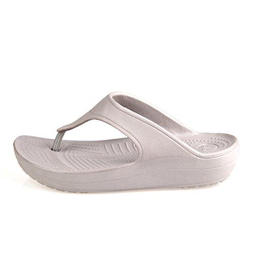 Estate indossa la parola pantofole/Sandali inferiori inferiori della punta inferiore D