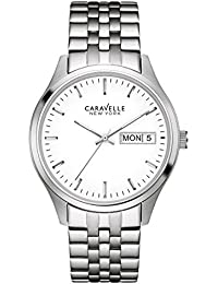 Caravelle 43C114 Men's Corporate Exclusive White Dial Stainless Steel Bracelet Watch