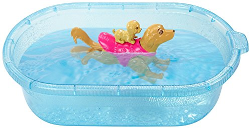 Image of Barbie Swimmin' Pup Pool Doll Playset