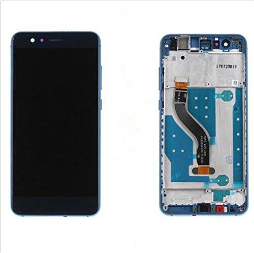 HUAWEI P10 LITE Display im Komplettset LCD Ersatz Für Touchscreen Glas Reparatur (Blau+rahmen) -