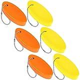Boao Porte-Clés Flottant en Mousse Porte-Clés Flottant Oval Porte-Clés en Mousse pour Navigation, Pêche, Cerf-Volant, Voile et Sports de Plein Air (6)