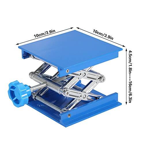Preisvergleich Produktbild GLG Top Labor Hebebühne 4×4 Zoll Laborständer 100mm x 100mm Stand Lifter Blau ND 02