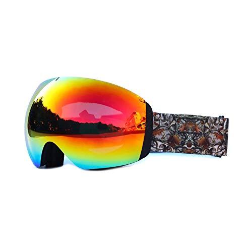 AmDxD TPU+PC Snowboardbrille Skibrille Zweilagige Anti-Fog PC Objektiv Schneebrille Wintersport...