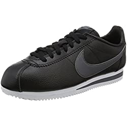 Nike Classic Cortez Leather, Zapatillas de Running Hombre, Negro (Black / Dark Grey / White), 39