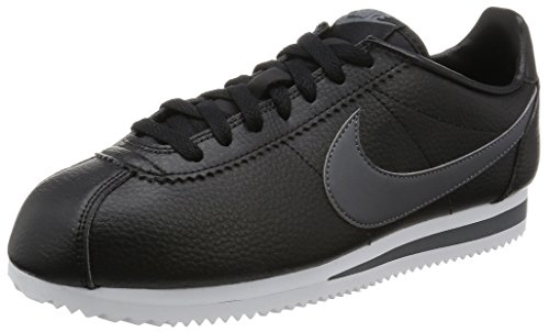 Nike Herren Classic Cortez Leather Laufschuhe, Negro/Gris/Blanco (Black/Dark Grey-White), 45.5 EU