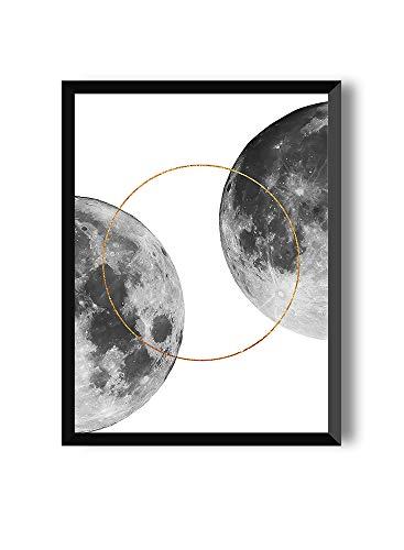 Einrahmen der Moon-Kollektion, Full Moon, Zwei Größe, 20 x 30 cm, 30 x 40 cm, 50 x 70 cm ()