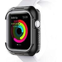 MATONE Funda Apple Watch 44mm Series 4, Protector Pantalla iWatch 4 Funda Protectora de Parachoques de TPU a Prueba de Choques Compatible con Apple Watch Series 4 (44mm), Nike +, Hermes (Negro)
