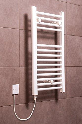 Elektrischer Handtuchheizkörper, elektro Badheizkörper 700x400 Weiß