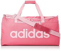 Idea Regalo - adidas Linear Core - Borsa a mano Unisex Adulto, Rosa (Solar Pink/True Pink), 22x28x56 cm (W x H L)