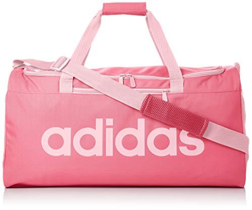 adidas - Linear Core, Bolso de mano Unisex adulto, Rosa (Solar Pink/True Pink), 22x28x56 cm (W x H L)
