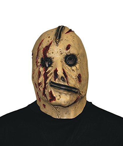 Reißverschluss Gesicht Halloween Maske