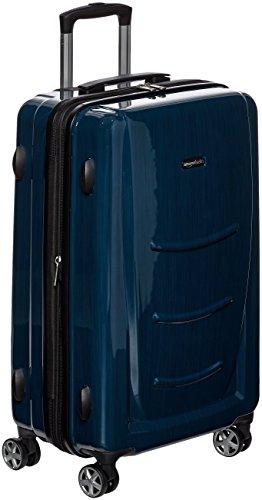 AmazonBasics - Trolley rigido con rotelle girevoli, 68 cm, Blu Marino