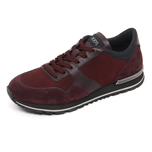 B9740 sneaker uomo TOD'S scarpa new spoiler bordeaux shoe man Bordeaux