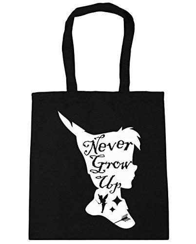 hippowarehouse-never-grow-up-fairytale-design-tote-shopping-gym-beach-bag-42cm-x38cm-10-litres