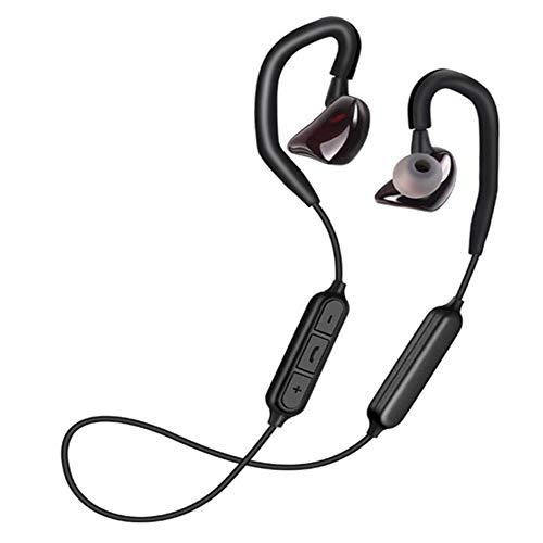 LCM Auricular Bluetooth Estéreo 4,1 Impermeable Movimiento Inalámbrico Bluetooth Auricular En El Oído Ruido-Cancelación De Voz Puntas De Voces Negro Rojo,Red