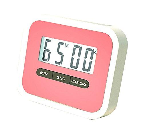 Nikgic Portable Magnetständer Digital Kitchen Timer laute Alarm Stoppuhr Clock Students Erinnerung zum Kochen, Backen, Braten (Rosa)