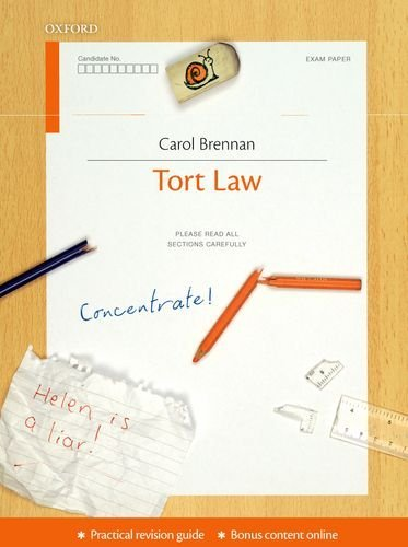 Tort Law Concentrate: Law Revision and Study Guide by Brennan, Carol (August 4, 2011) Paperback