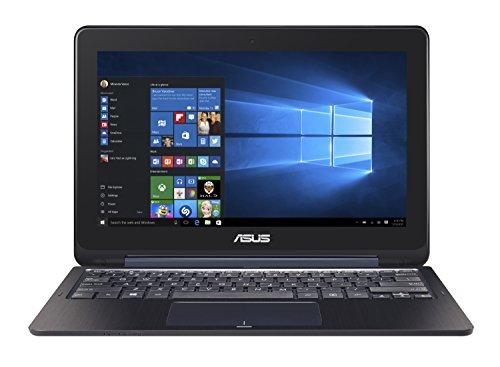 k TP200SA-DH01T-BL 29,5 cm (11,6 Zoll) Display, dünn und leicht, 2-in-1-Full-HD-Touchscreen, Intel Celeron Prozessor, 4 GB RAM, 32 GB EMMC-Speicher, Windows 10 Home, Dunkelblau ()