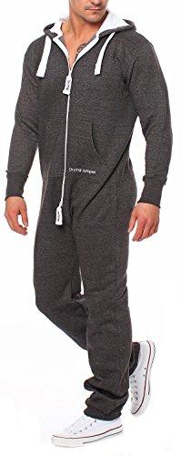 Drying Jumper Herren Jumpsuit Overall Jogging Anzug Trainingsanzug Dunkelgrau