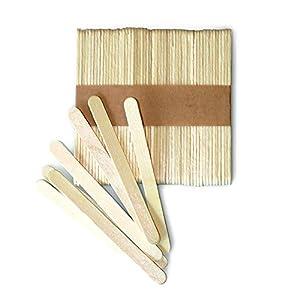 EIS-Sticks Natürliche Holz Treat Sticks Freezer Pop Sticks 11cm Länge Holzstäbe für Ice Cream Bars 100 Stück