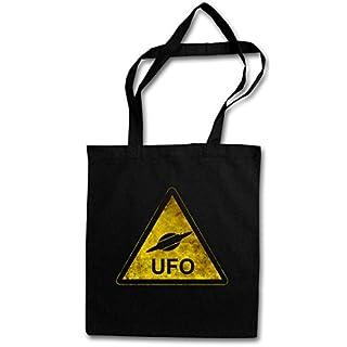 Urban Backwoods UFO Sign Hipster Bag ? Alien Invader Haunebu 12 Grey Area 51 TR3B Blue George Book Adamski Flying Saucer Dark Side Vril Andromeda Ger?t of The Moon Space Age Design Sekte