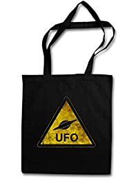 UFO SIGN HIPSTER BAG – extraterrestre Alien Invader Haunebu 12 Grey Area 51 TR3B Blue George Book Adamski Flying Saucer Dark Side Vril Andromeda Of The Moon Space Age