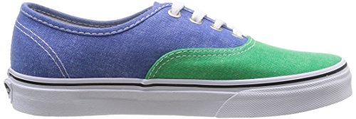 Vans U Authentic Sneakers, Unisex Adulto Multicolore (Fern Green/Campanula)
