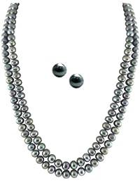 Sri Jagdamba Pearls White Gold-Plated Multi-Strand for Women