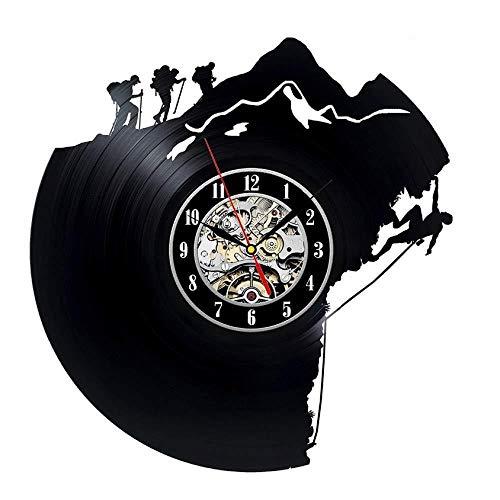 CHANGWW Reloj de Pared de Registro Decorativo Reloj de Pared de Disco de Vinilo único Regalo para escaladores Reloj de Pared Reloj Despertador Reloj de Pared Grande