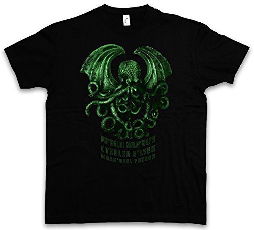 Cthulhu R´Lyeh T-Shirt - Wars Horror Arkham H. P. Lovecraft Miskatonic T-Shirt Sizes S - 5XL