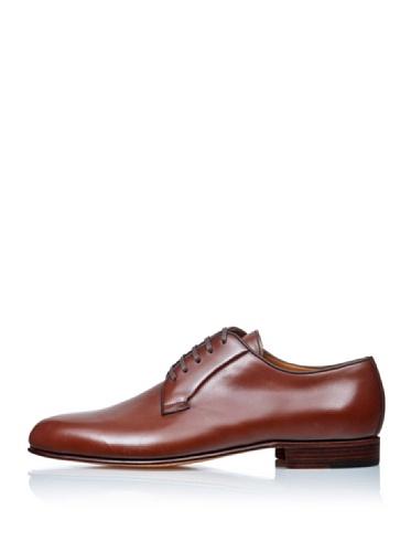 George's  Cordones Pala Lisa, chaussures Derby homme marron foncé