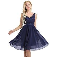 Robe de soiree bleu marine et blanc