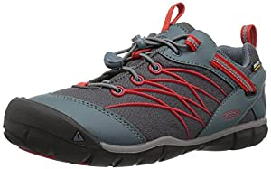 Keen Unisex-Kinder Chandler CNX Waterproof Trekking-& Wanderhalbschuhe, Rot (Stormy Weather/Firey Red 0), 32/33 EU