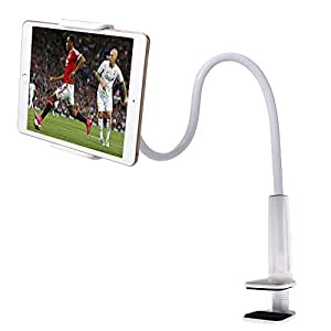 Flexible Arm Tablet Stand/Zilong iPad Stand/iPhone Holder 360 Degrees Rotatable Adjustable Bolt Clamp Desk-top/Bedside/Kitchen Countertop Universal Mount for IOS and Android Tablet PC, Mobile Phone,Ebook