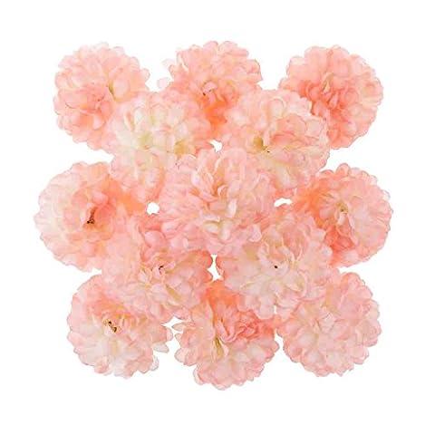 30x Daisy Craft Artificial Flower Silk Spherical Heads Wedding Decor - Light Pink