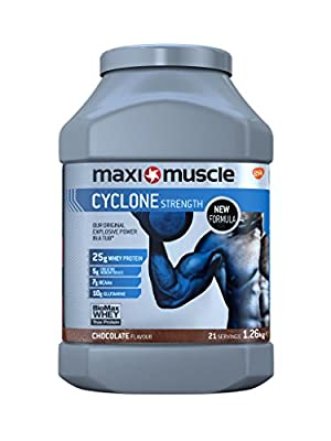 Maximuscle Cyclone Whey Protein and Creatine Powder, 1.26 kg, Chocolate from Maximuscle