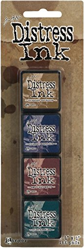 Ranger Tim Holtz Mini Distress Ink Kit 12, Plastic Multicolour 10 x 2,5 x 1,3 cm -