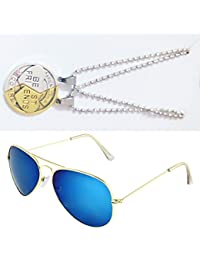 Sheomy Combo Of Friendship Coin Best Friends Pendant And Golden Blue Aviator Sunglasses Best Online Gifts