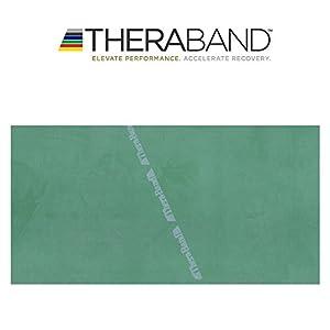 Thera-Band® original Übungsband + Übungsbuch gratis (grün (stark))