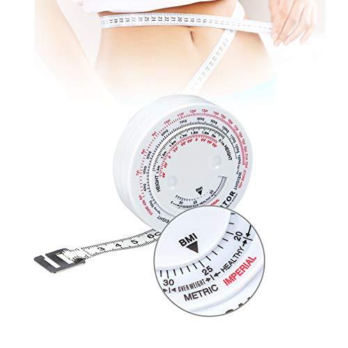 Maßband, Körperfett Tape Maßnahmen Bremssattel Set Tester Mass Index Runde Fettmessung Messen Fitness Körper Retractable Tape -