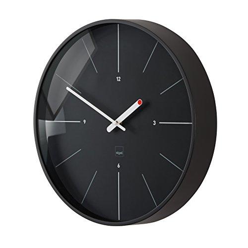 Sigel WU113 moderne, große Design Funk-Wanduhr, Modell ondo, schwarz, Ø 36 cm, reddot design award 2014 Gewinner Große Schwarze Wanduhr