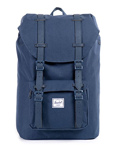 Herschel Supply Co. Rucksack Little America mid-volume, Stellar/Tan Synthetic Leather (blau) - 10020-01334-OS Navy