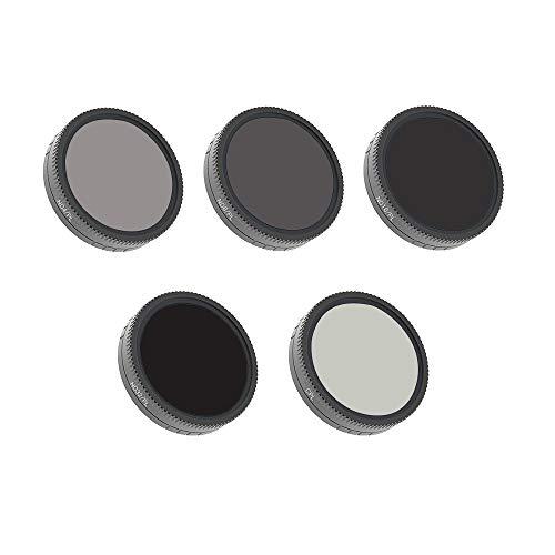 Webla Filter, ND4 + ND8 + ND16 + ND3-PL + CPLAngles Filterlinse für DJI Osmo Action, Aluminiumlegierung für die Luftfahrt -
