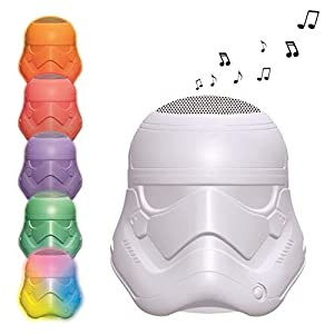 Star Wars Wars-BTL710 Altavoz Luminoso con Bluetooth, Uso Interior y Exterior, batería Recargable (Lexibook BTL710SW), Color Blanco