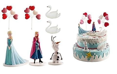 Kit PVC Frozen Reine des Neiges ballon Decoration gâteau Anniversaire 505