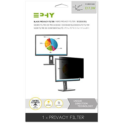 EPHY Privacy Filter / Anti-Glare / Screen Protector for Laptop TFT Monitor Desktop PC LCD LED Screen - Compatible with Apple iMac Macbook DELL SAMSUNG ACER V7 3M IBM LENOVO HP COMPAQ AOC ACER ASUS SHARP LG NEC VIEW SONIC TARGUS (17.3