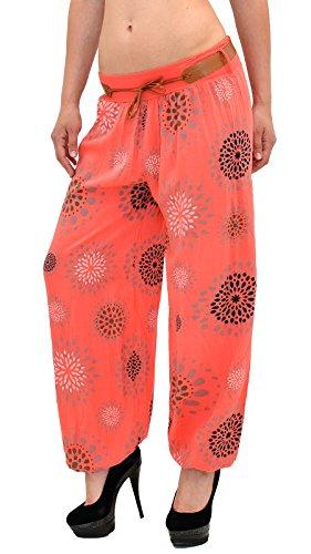 Pantalon Sarouel pour Femme Pantalon Pump Femme Pantalons Harem pour Dames Pantalon S17 S18-orange